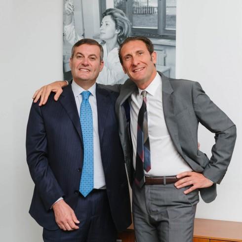 Gli attuali amministratori delegati di Sinerga: Alessandro Fontana e Marco Fontana, figli della dottoressa Marina Lenzini